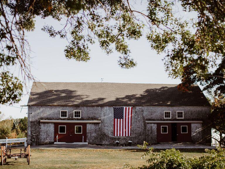 Barn wedding venue in Rowley, Massachusetts.