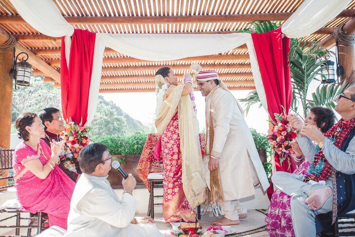 Exchanging Jaimala Floral Garlands