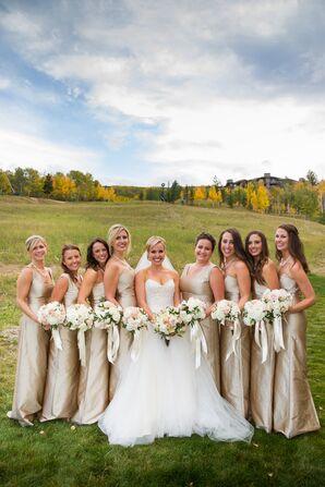 Champagne LulaKate Bridesmaid Dresses