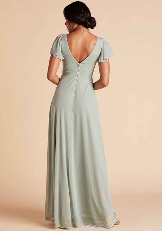 Birdy Grey Hannah Dress in Sage V-Neck Bridesmaid Dress