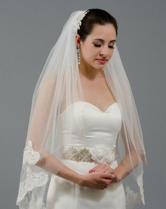 Tulip Bridal 2 Tier Lace Wedding Veil-V041 Wedding Veils photo
