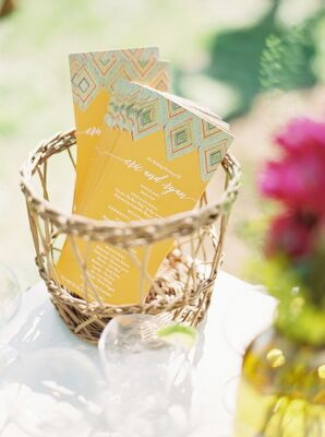 Patterned Yellow and Turquoise Program