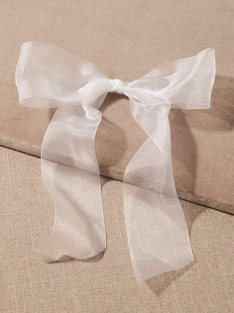 wedding hair pieces white bow