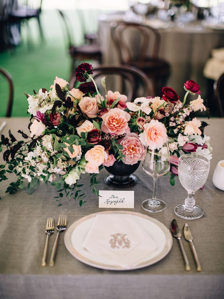 Wedding Centerpieces Gradient Colors