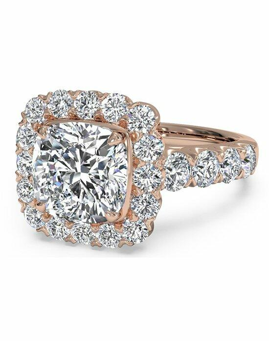 Ritani Masterwork Cushion Halo Diamond Band Engagement Ring in 18kt Rose Gold (0.75 CTW) Engagement Ring photo