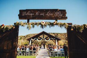 DIY Rustic Wooden Wedding Sign