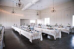 Rustic Reception Decor at Christman Manor Wedding