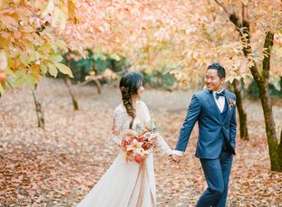 Towering trees, tranquil orchards and 30 acres of manicured gardens made Nestldown a natural fit for Annie Han (30 and a general dentist) and Russell
