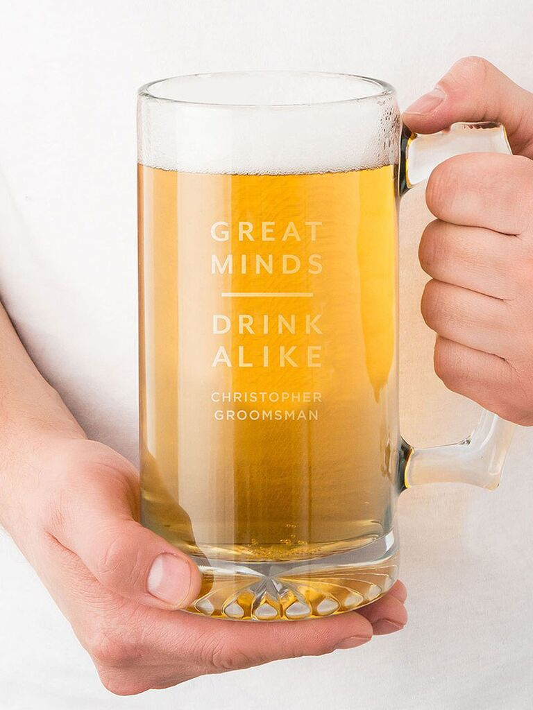 Custom beer mug groomsmen proposal gift
