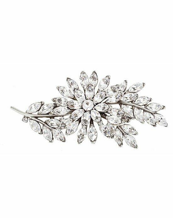 Thomas Laine Crystal leaf Pin Wedding  photo