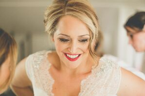 Parted Updo Bridal Hair