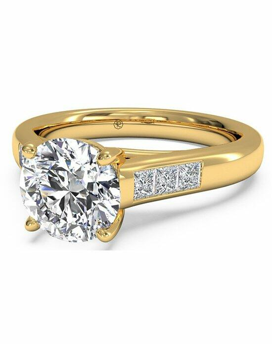 Ritani Round Cut Solitaire Channel-Set Diamond Band Engagement Ring in 18kt Yellow Gold (0.18 CTW) Engagement Ring photo