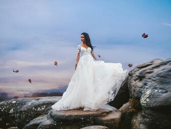 Allure Disney Fairy Tale Weddings Pocahontas wedding dress