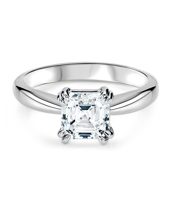 Ritani Solitaire Diamond Tulip Cathedral Engagement Ring - in 14kt White Gold for a Asscher Center Stone Engagement Ring photo