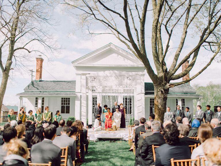Farm wedding venue in Dexter, Michigan.