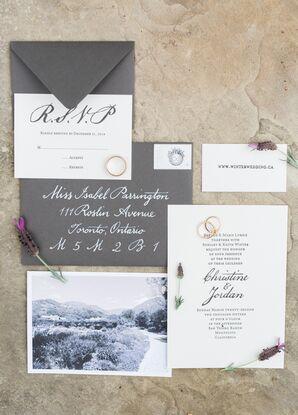 Classic Black-and-White Wedding Invitations
