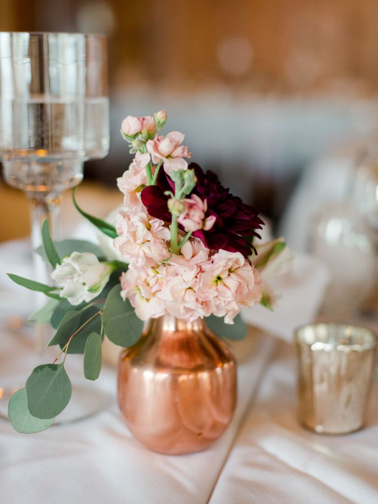 Wedding Centerpieces Rose Gold Vase