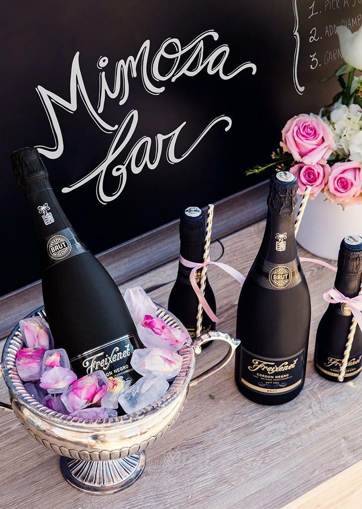 Wedding brunch idea, mimosa bar