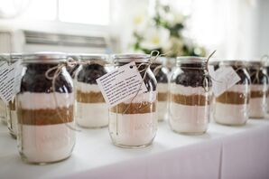 Cookie Mix Mason Jar Wedding Favors