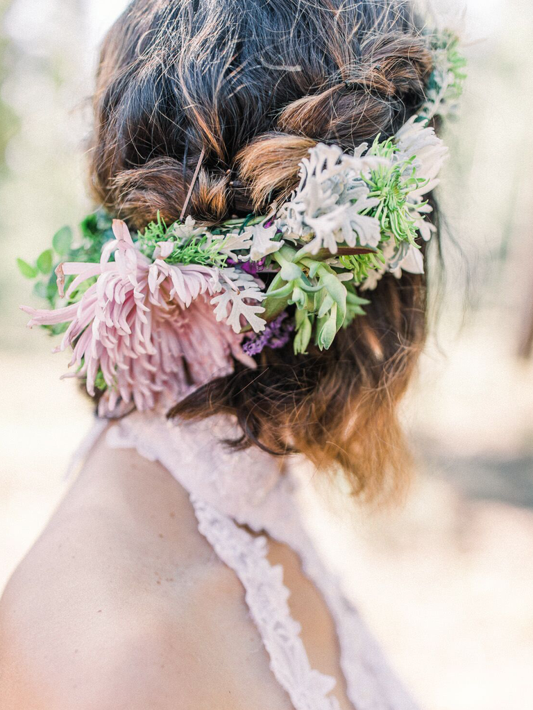 country wedding hairstyles half up