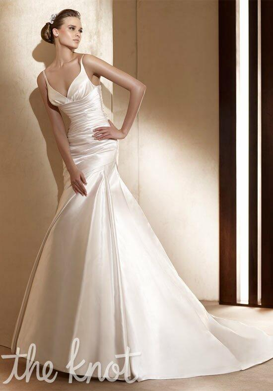 Pronovias alice wedding dress the knot for The knot gift registry