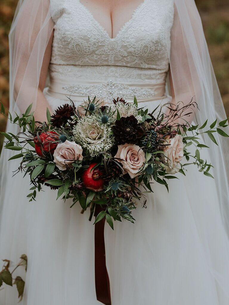 Fall wedding ideas fruit in bouquet