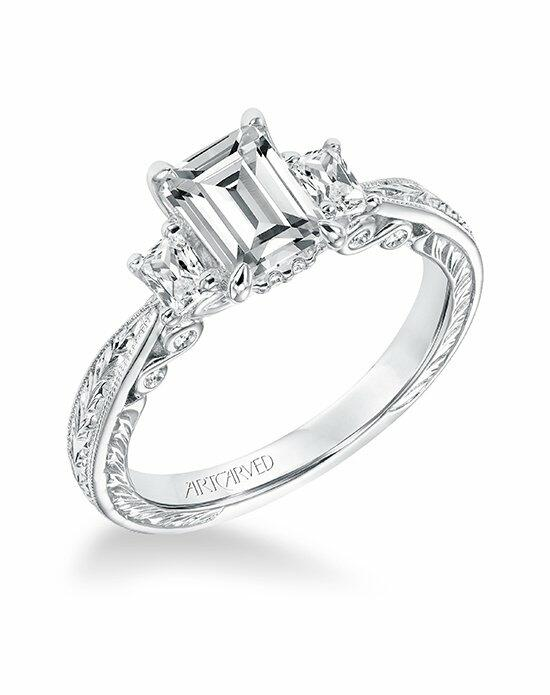 ArtCarved 31-V694EEW-E Engagement Ring photo
