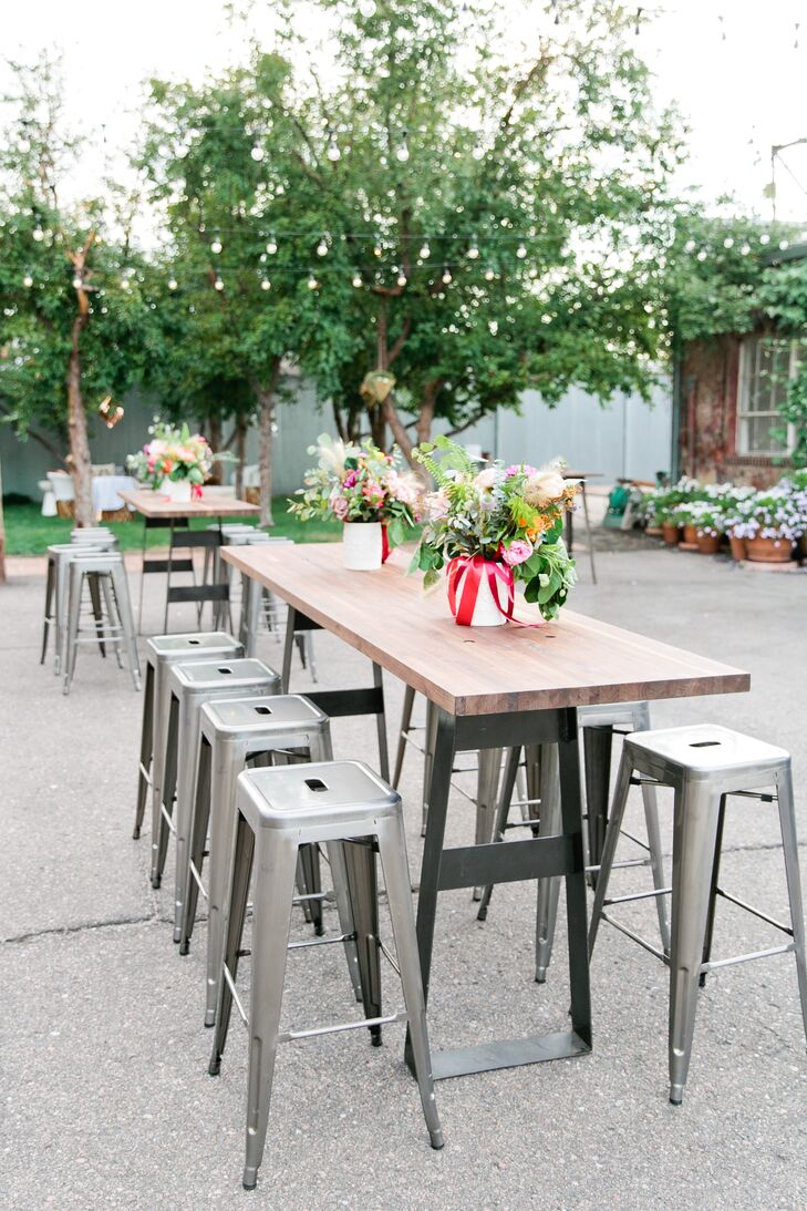 Rustic Industrial Cocktail Tables with Pilot Stools