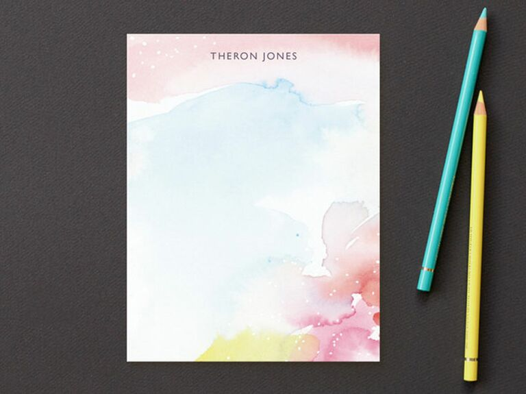 Personalized stationery for bridal party