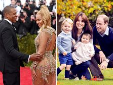 Jay Z and Beyonce,  Kate Middleton and Prince William famous couples