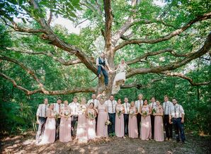 Blush, Ivory and Navy Wedding Party