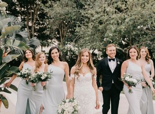 """When Meredith Feig and Tony Stern booked their wedding venue, it didn't exist yet. """"We reserved our date at The Ben sight unseen, and it was just a co"""