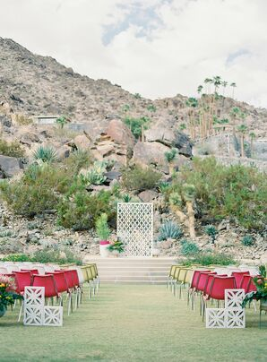 Wedding Ceremony at Colony 29 in Palm Springs, California
