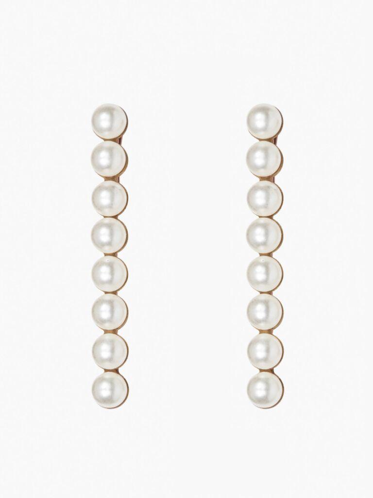 wedding hair pieces pearl barrettes
