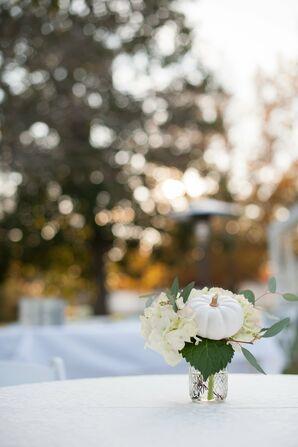 White Pumpkin and Hydrangea Centerpieces