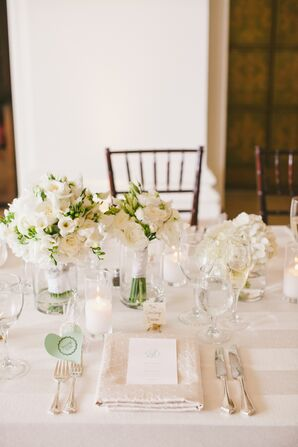 All-White Reception Tables