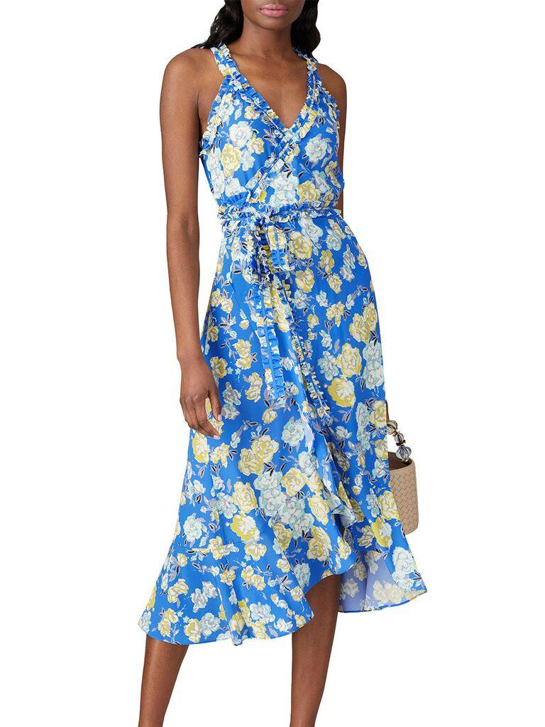 Jason Wu blue floral sleeveless dress