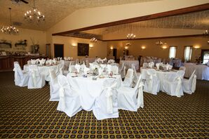 Simple White Dining Tables at Reception