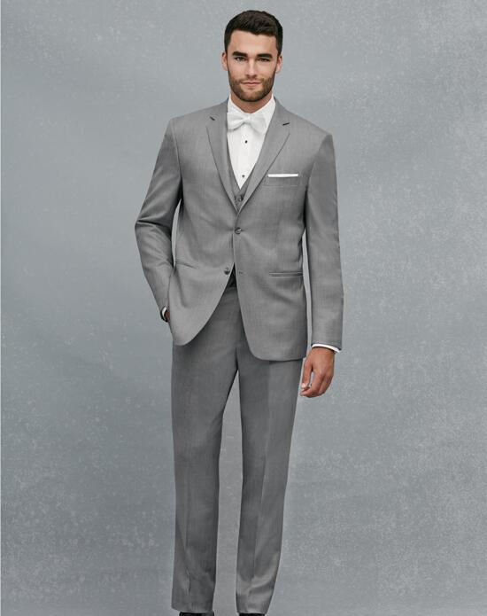 Jos. A. Bank 2-Button Notch Lapel Gray Suit Wedding Tuxedos + Suit photo