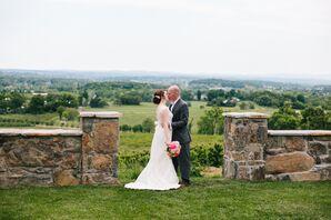 Bluemont Vineyard Wedding Portrait