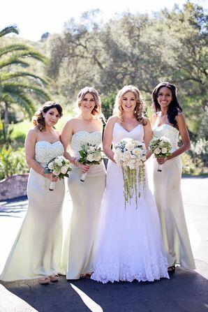 Custom Designed Mint Bridesmaid Dresses