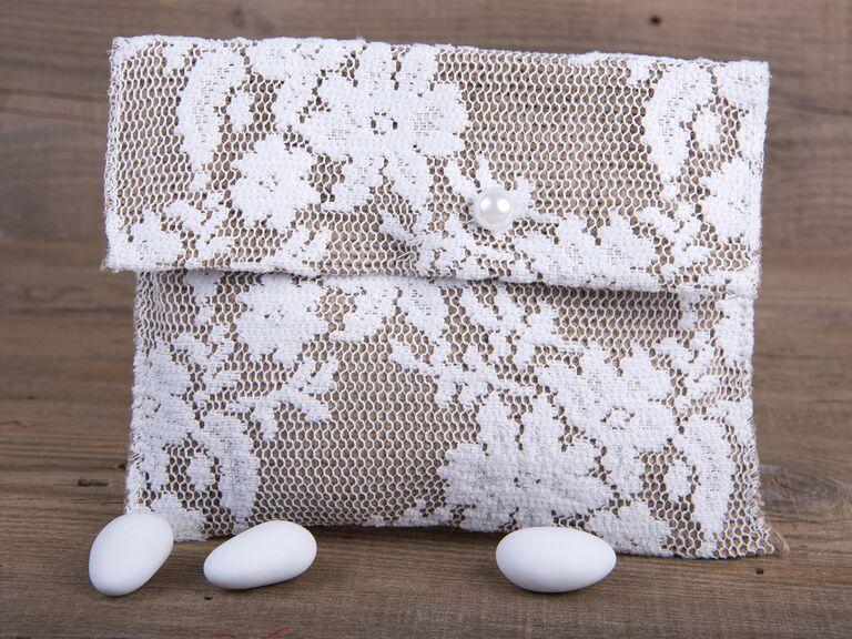 Sugar coated almond wedding favors