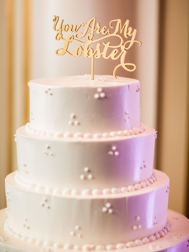 friends themed wedding cake topper