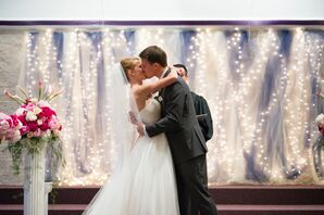 Traditional Ceremony Decor With Whimsical Backdrop