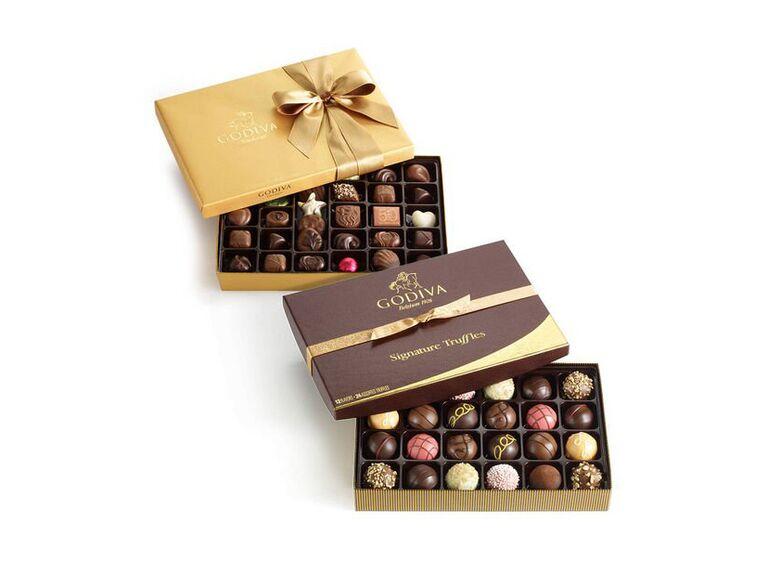 luxury chocolate selection