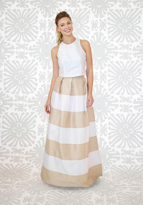 LulaKate Striped Dahlia Skirt Bridesmaid Dress photo