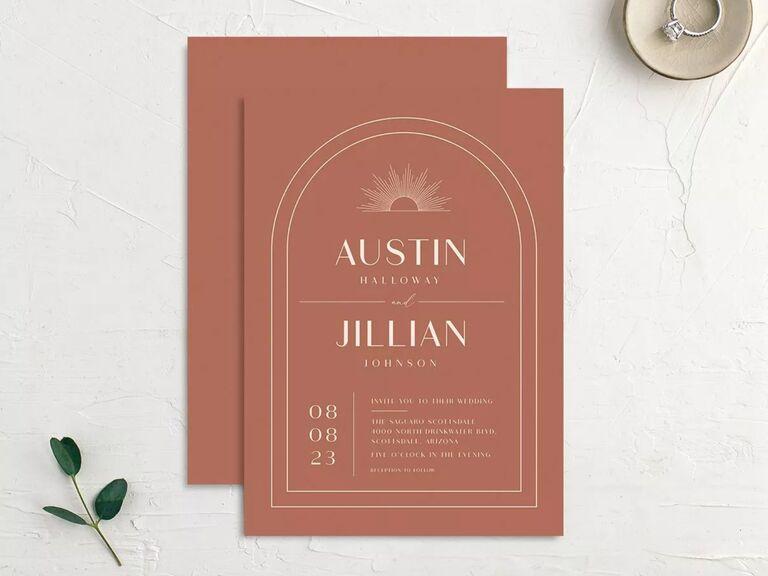 free wedding invitations boho design