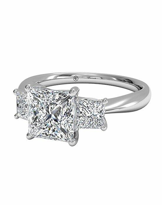 Ritani Princess Cut Three-Stone Diamond Engagement Ring with Side Diamonds in Platinum (0.38 CTW) Engagement Ring photo