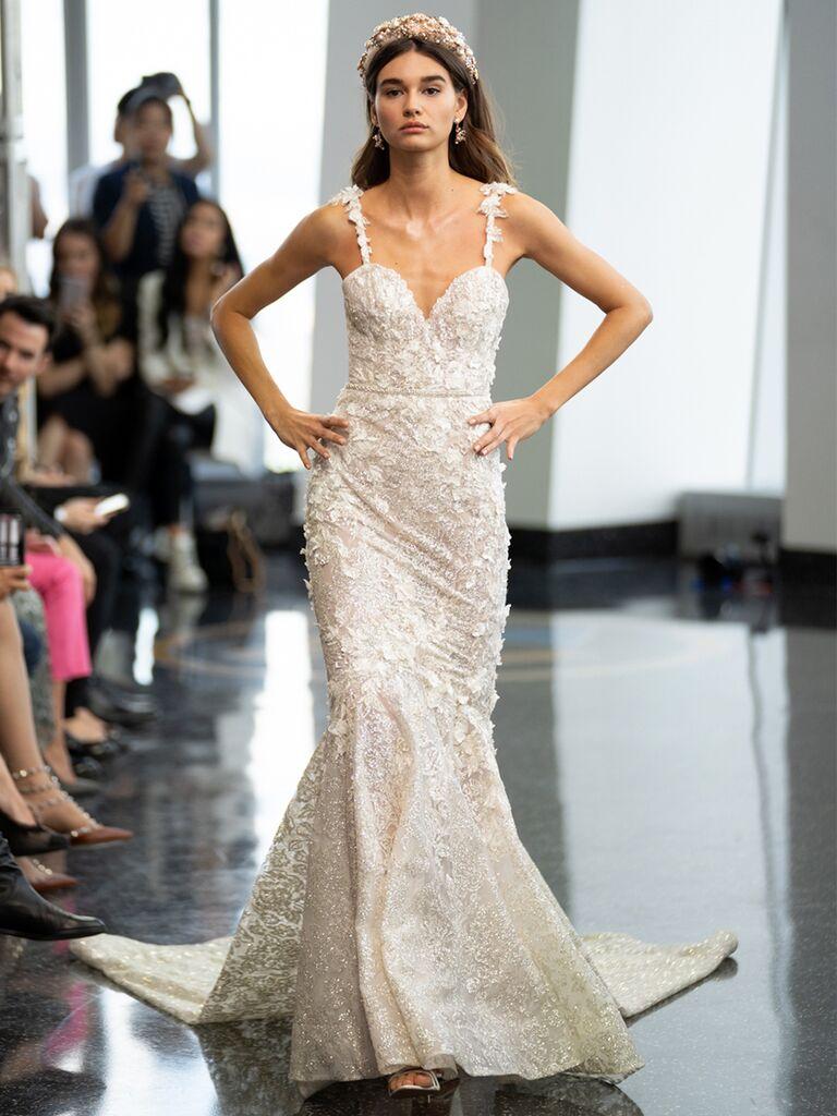 berta mermaid gown sweetheart neckline
