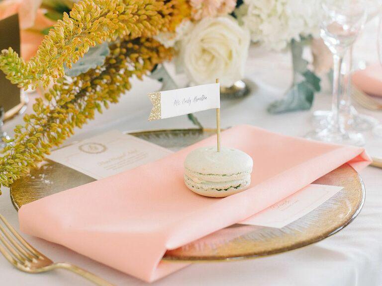 macaron wedding place card